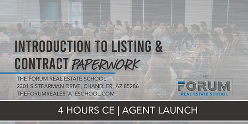 CE - Agent Launch - Introduction to Listing & Contract Paperwork