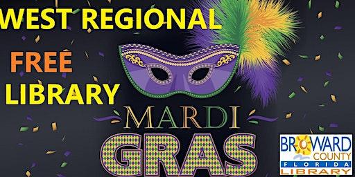 Mardi Gras Celebration at West Regional Library: Mardi Gras Mask, Part 1