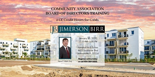Community Association Board of Directors Training