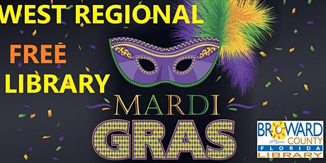 Mardi Gras Celebration at West Regional Library: Mardi Gras Mask, Part 2 tickets