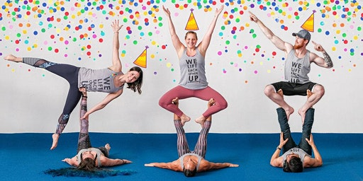 FREE AcroYoga Class + B-Day Party!