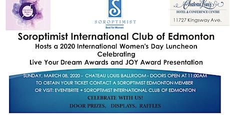 International Women's Day Celebration Fundraiser for Soroptimist International Club of Edmonton support for Girls and Women tickets