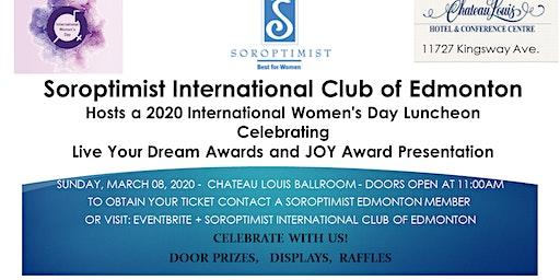 Soroptimist International Club of Edmonton sponsors International Women's Day Celebration