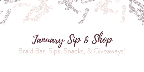 January Sip & Shop tickets