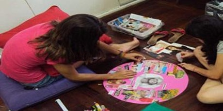 Atelier de Arte terapia -A Mandala dos desejos bilhetes