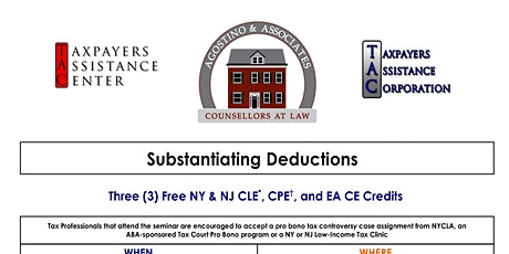Substantiating Deductions tickets