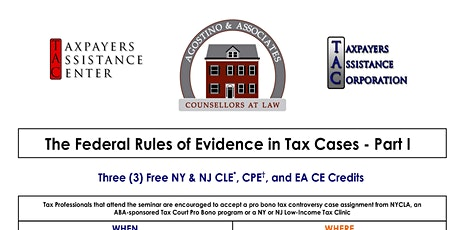 The Federal Rules of Evidence in Tax Cases - Part I tickets