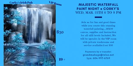 Majestic Waterfall Paint Night Event tickets