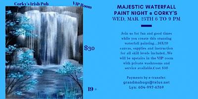 Majestic Waterfall Paint Night Event