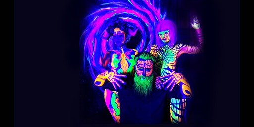 Future Primitive, a black light tribal body painting party!