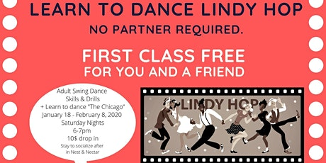 Learn to Lindy Hop: Basic Swing Dance Skills & Drills. No partner needed. tickets