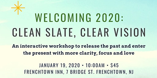 Welcoming 2020: Clean Slate, Clear Vision