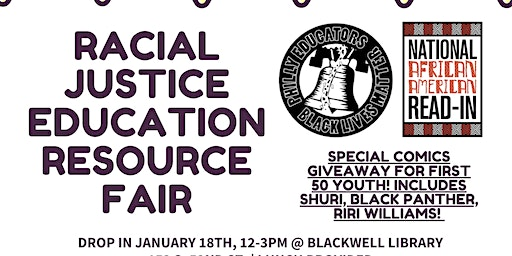 #MLK2020: Racial Justice Education Resource Fair @ Blackwell Library