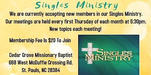 Cedar Grove MBC Singles Ministry