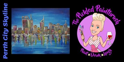 Painting Class - Perth City Skyline - February 5, 2020
