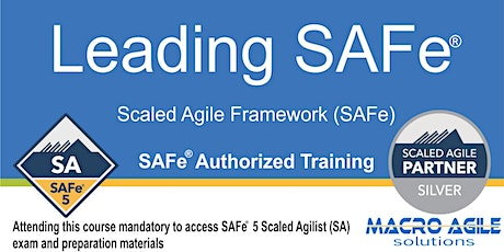 Leading SAFe® 5.0 (SA) (Scaled Agile Framework) Training- Toronto tickets