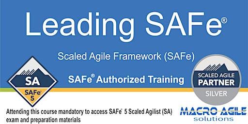 Leading SAFe® 5.0 (SA) (Scaled Agile Framework) Training(Guaranteed to Run)