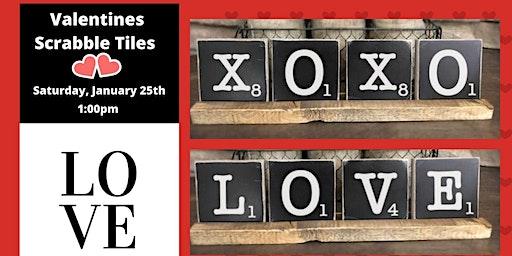 Valentines Scrabble Tiles