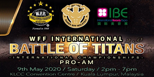 WFF INTERNATIONAL BATTLE OF TITANS 2.0 PRO-AM INTERNATIONAL CHAMPIONSHIPS