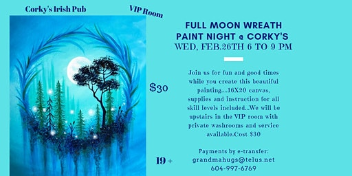 Full Moon Wreath Paint Night