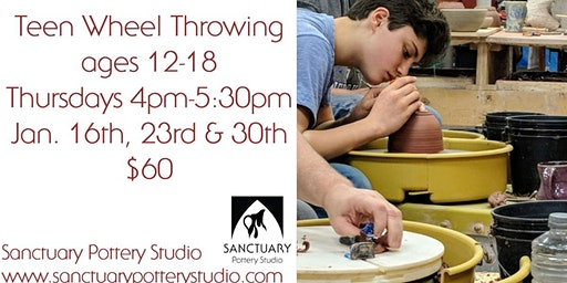 Teen Wheel Throwing (12-18) Thursday Afternoon 4:00-5:30