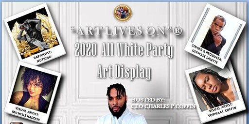 """ART LIVES ON"" 2020 ALL WHITE ART SHOW"