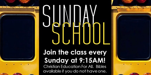 Reaching To Teach: Sunday School (Sundays at 9:15AM)