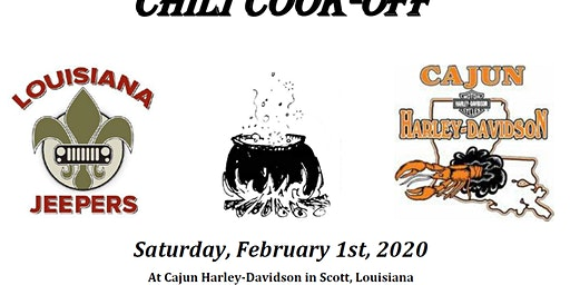 Louisiana Jeepers RSD/CRPS Chili Cook Off Registration