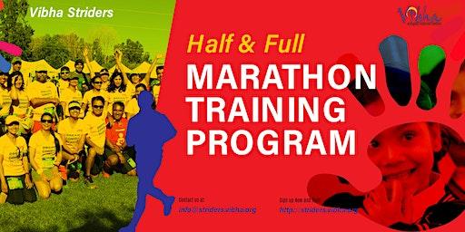 FREE Information Session for Vibha Striders Marathon Training Program 2020