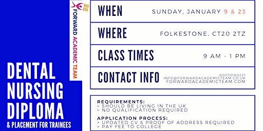 Dental Nursing Diploma/Courses in Folkestone - February 9 and 23
