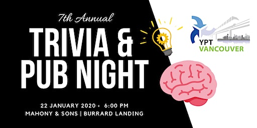 YPT Vancouver 7th Annual Trivia and Pub Night