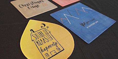 Workshop Handletteren op zijde tickets