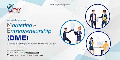 1 year Diploma in Marketing & Entrepreneurship (DME) Arfa Tower tickets