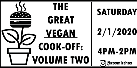The Great Vegan Cook-Off: Volume Two tickets