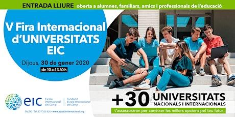V Fira Internacional d'Universitats EIC entradas