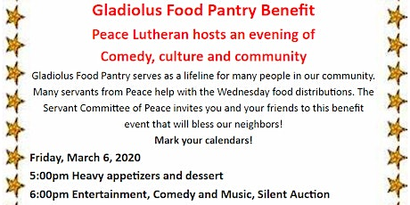 Gladiolus Food Pantry Benefit tickets