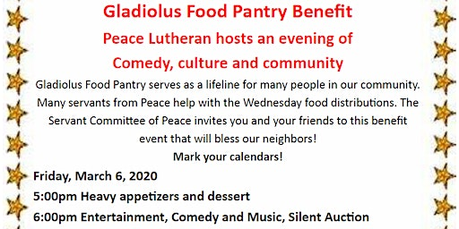 Gladiolus Food Pantry Benefit