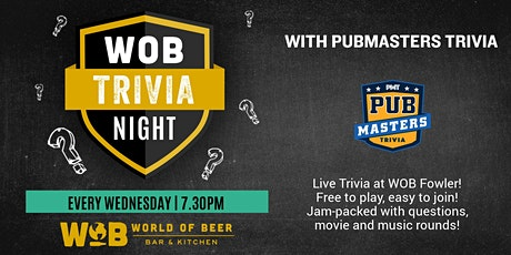 Pub Masters Trivia LIVE at World of Beer - Fowler! tickets
