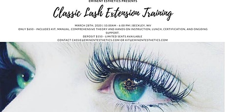 Classic Eyelash Extension Training and Certification tickets