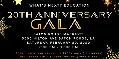WHAT'S NEXT? PROGRAM 20TH ANNIVERSARY GALA tickets
