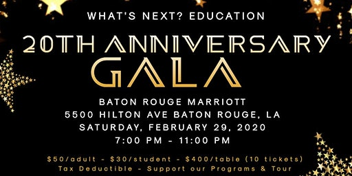 WHAT'S NEXT? PROGRAM 20TH ANNIVERSARY GALA