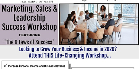 Marketing, Sales and Leadership Success Workshop tickets