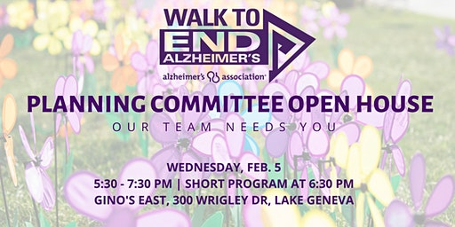 Walk to End Alzheimer's Committee Open House | Walworth County
