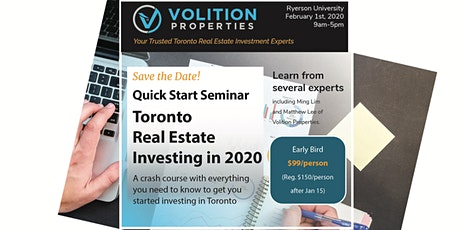 Quick Start Seminar – Toronto Real Estate Investing in 2020 tickets