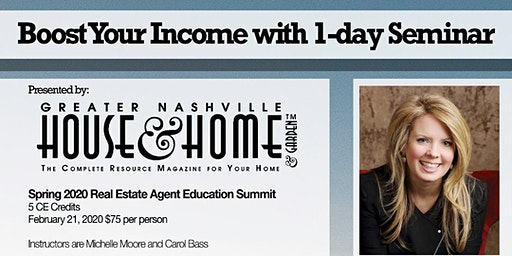 Real Estate Agents & Brokers Boost Your Income with 1-day Seminar