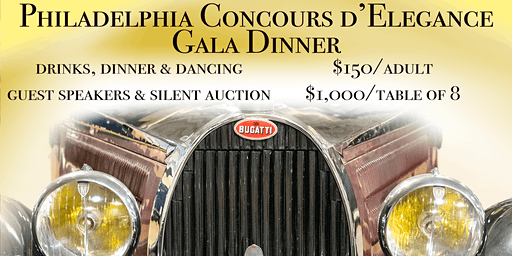 4th Annual Philadelphia Concours d'Elegance PREVIEW GALA