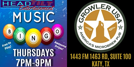 Music Bingo at Growler USA - Katy, TX tickets