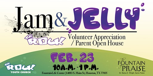 Jam and Jelly Volunteer Appreciation & Parent Open House 2020