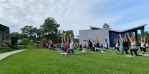 First Sunday Yoga on the Lawn at WellCome OM
