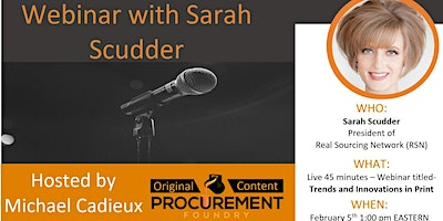 Webinar-Sarah Scudder speaks on Trends and Innovations in Print